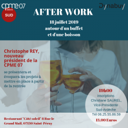 Invitation After Work 18 juillet 2019