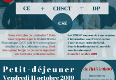 CSE Comité Social et Economique, c'est avant le 31 décembre 2019 – Rencontre avec la CPME Ardèche le 11 octobre prochain