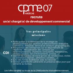 CPME 07, recrutement Chargé(e) de développement